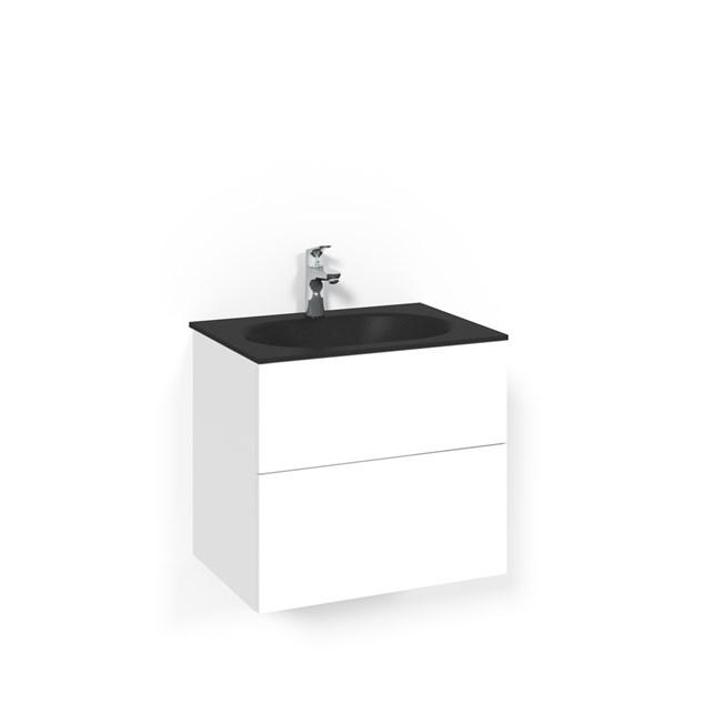 Macro Design Vaskeskab Crown Push Open Med Håndvask i Glas