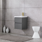 Vaskeskab Bathlife Eufori Small Grå inkl vask