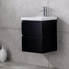 Vaskeskab Bathlife Eufori Small Svart inkl. vask