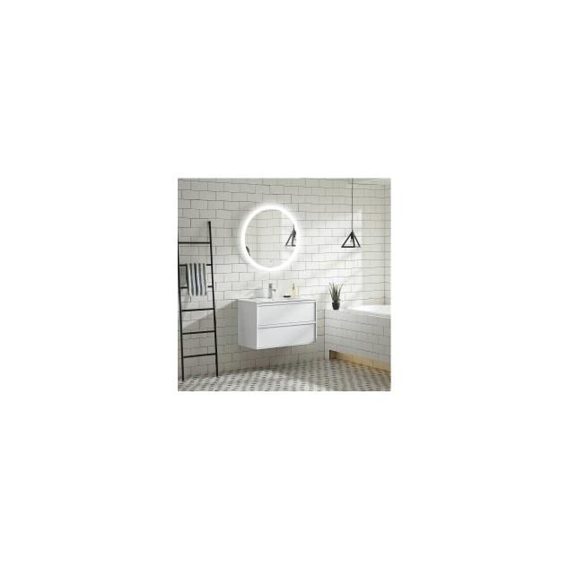 Vaskeskab Bathlife Rus 800 Hvid Eg inkl.vask