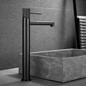 Bathlife Håndvaskarmatur Vidd Høj Blank Grå