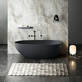 Bathlife Badekar Klok C912 - Sort 1800 mm