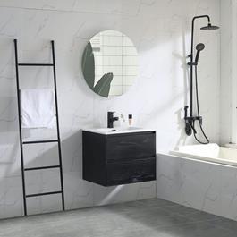 Bathlife Håndvaskskab Bahtlife Lättsam Sort Eg