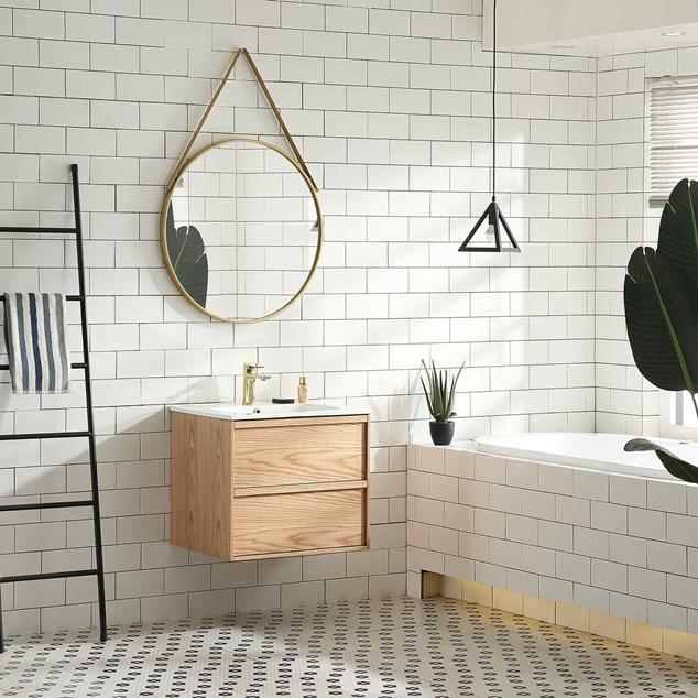 Bathlife Håndvaskskab Lättsam Natur Eg