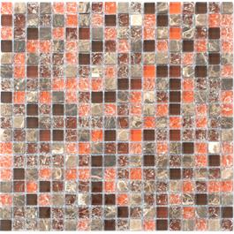 Arredo Krystalmosaik Blank 15x15x8 mm Exclusive Stone Autumn Red