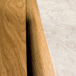 Kährs Massiv Niveauliste 58x20 mm til 14-20 mm inkl underlag - Eg Blonde/Pearl