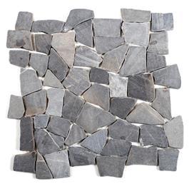 Arredo Natursten Stone Cobble Black (interlock) (300x300)