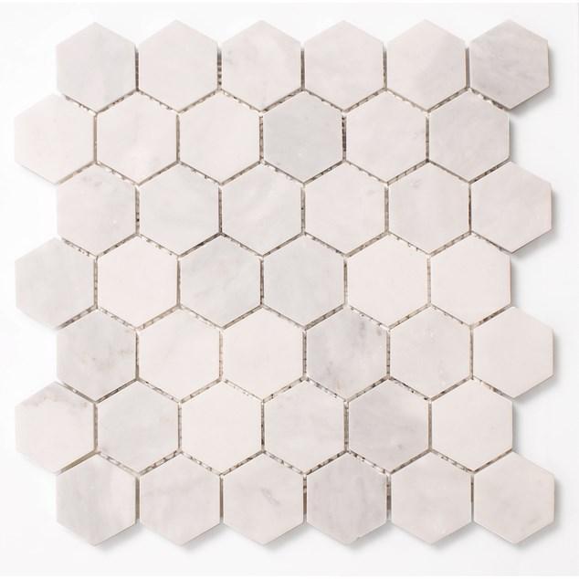 Arredo Danjade Hexagon 48mm på nät,polerad - Klinker