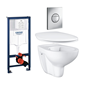 Grohe Væghængt Toilet Bau Ceramic 39427 Komplet Installationspakke