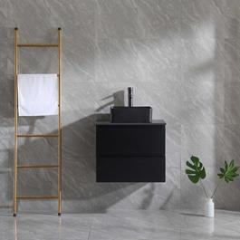 Vaskeskab Bathlife Extas Svart 600mm inkl.vask