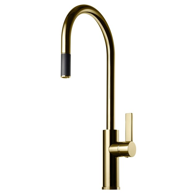 Køkkenarmatur Tapwell ARM185 med Udtrækstud Honey Gold