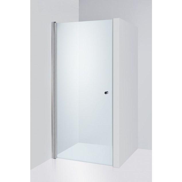 Duschbyggarna Brusedør Swing De Luxe 790-810 Krom Klart Glas