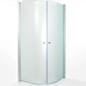 Arredo Brusehjørne Maja 900 x 900 ClearShield Frostet Glas Mat Profil
