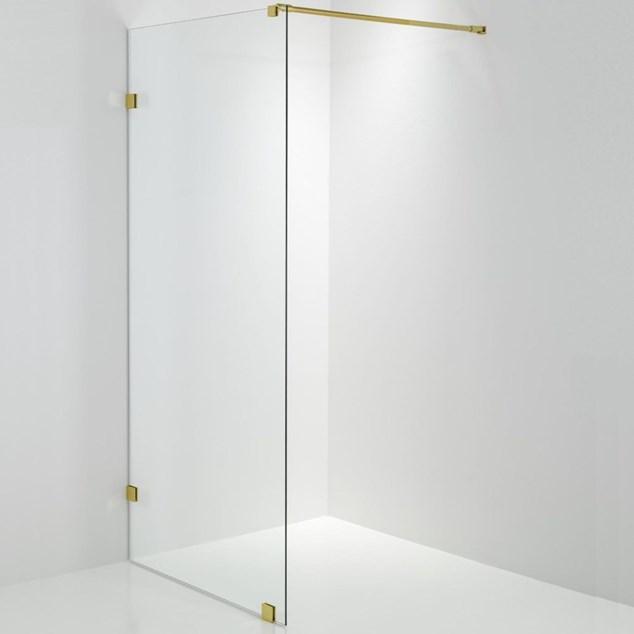 Duschbyggarna Design Brusevæg 690 Beslag Guld