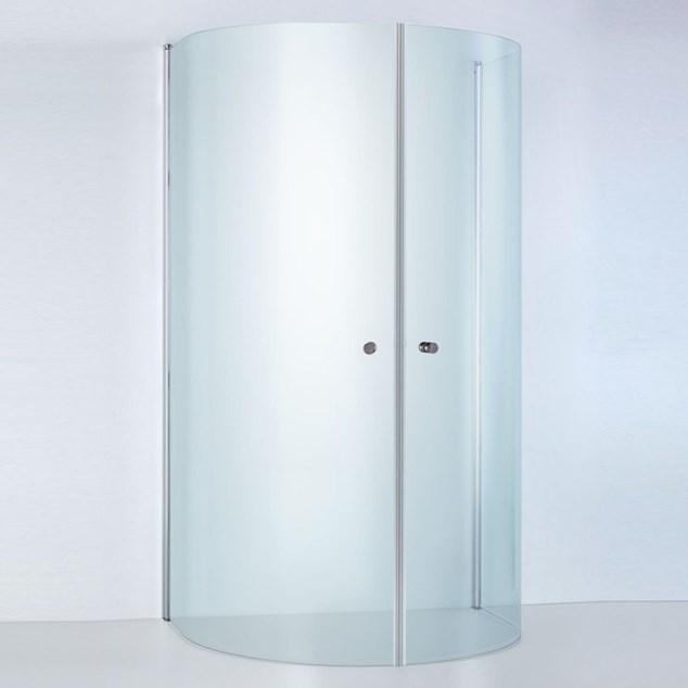 Duschbyggarna U-Bruse Round De Luxe 930X800 Klart Glas