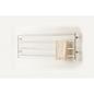 Sanova Håndklædetører vand 1200 x 400 Krom