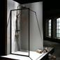 Macro Design Brusevæg Fast Sort Profil Klart Glas