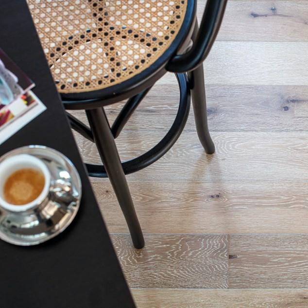 Trægulv Nordic Floor Chalet Eg White Matlak 1-stavs