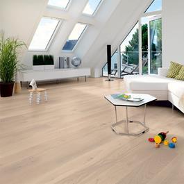 Trægulv Tarkett Shade Eg Satin White Plank 14 x 162 x 2000 mm