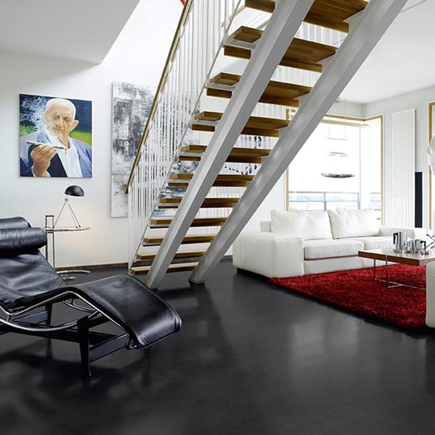Laminatgulv Pergo Big Slab 4v Medium Grey - Grå Skifer Living Expression