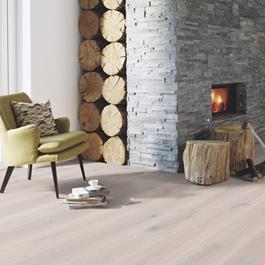 Trægulv Boen Eg White Stone Live Natural HW-Olie 14x209x2200mm -Plank