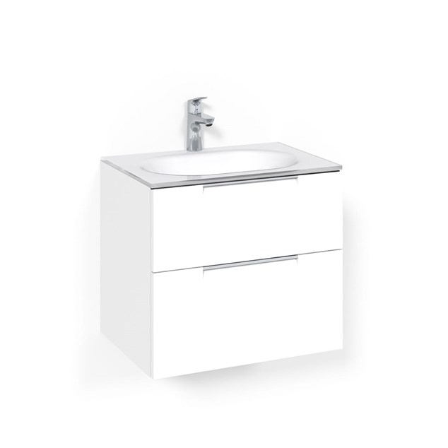 Macro Design Vaskeskab Crown Grip Med håndvask i glas