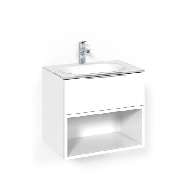 Macro Design Vaskeskab Crown Open Box med Håndvask i Glas