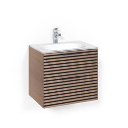 Macro Design Vaskeskab Crown Stripe Med Håndvask i Glas