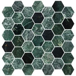 Mosaik BricmateU Hexagon Medium Green Marble Polished