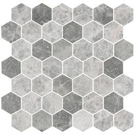 Mosaik BricmateU Hexagon Medium Grey Marble Honed