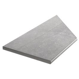 Klinker Bricmate Z Limestone Grey Pool Inner Corner Left 300x600 mm