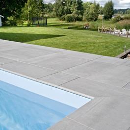 Klinker Bricmate Z Limestone Light Grey Pool Inner Corner Left 300x600 mm