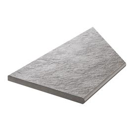Klinker Bricmate Z Quartzit Grey Pool Inner Corner Left 300x600 mm