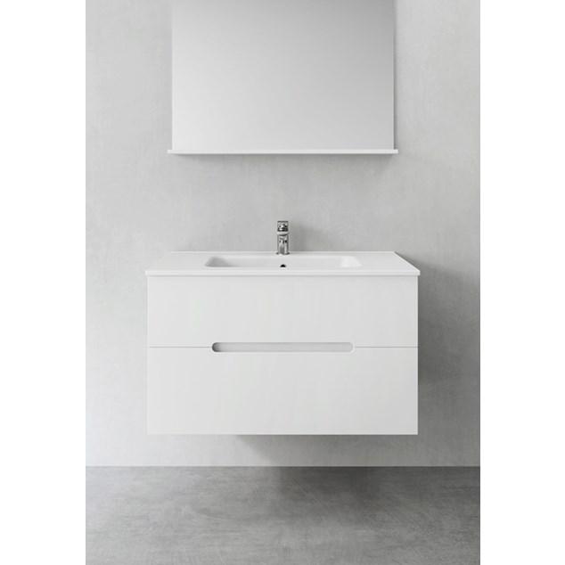 Hafa Sun Skab med Håndvask 900 Hvid Mat
