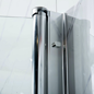 Brusehjørne Bathlife Mitt 930x780 mm til lige væg