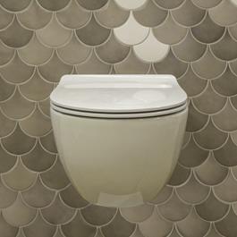 Flaminia App Latte Væghængt Toiletskål Goclean + Toiletsæde
