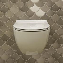 Væghængt Toiletskål Flaminia App Bianco Goclean inkl. Toiletsæde