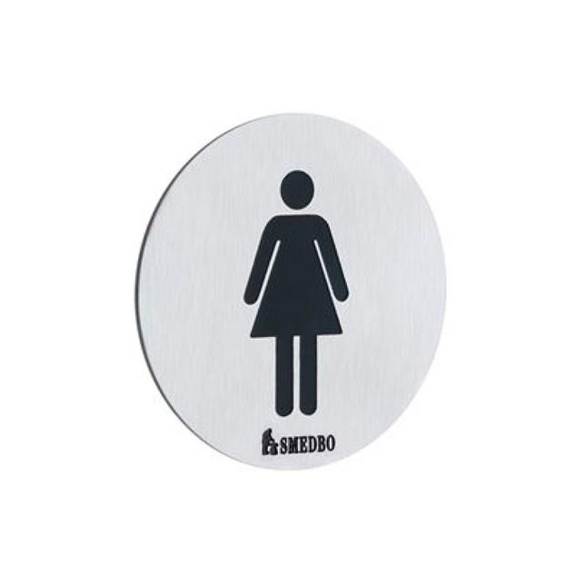 Smedbo Xtra WC-skilt Dame