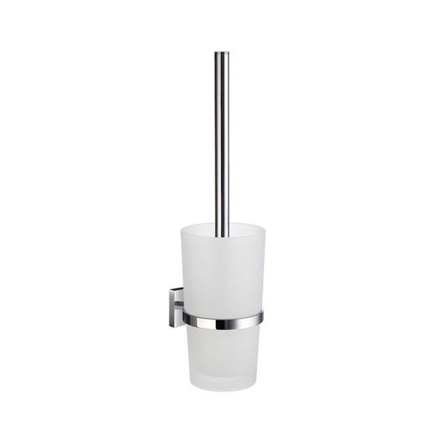 Smedbo House Toiletbørste Vægmonteret - Materet Glas/Poleret Krom