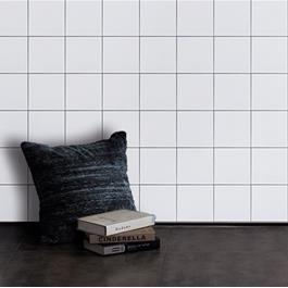 Arredo Vægflise Color Hvid Bølget Blank 150X150 mm
