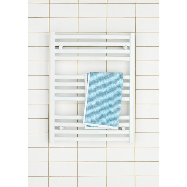 Hafa Ellips Håndklædetørrer 1600x450 Hvid