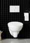 Hafa Wall Toilet væghængt Komplet Krom Skylleknap