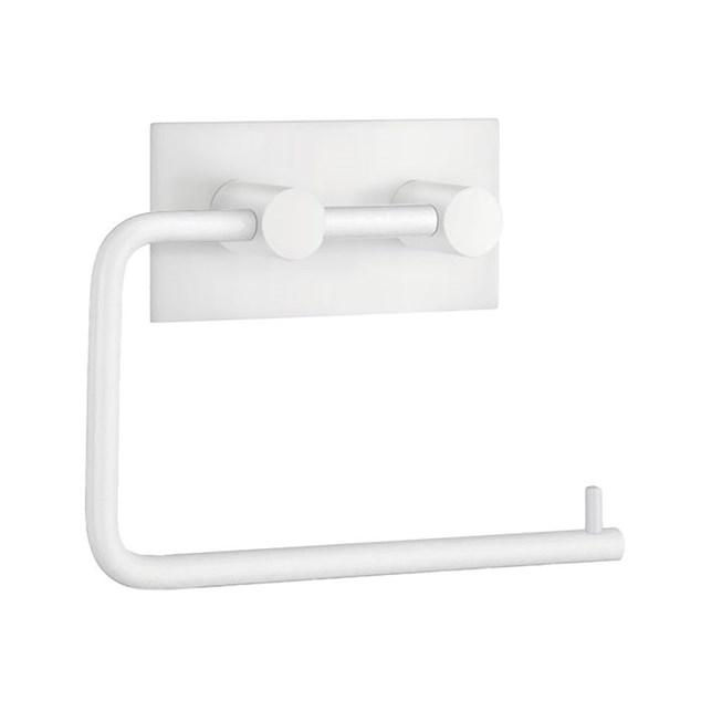 Beslagsboden Design Toiletpapirholder Selvklæbende Hvid Kantet