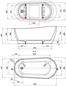 Neptun SIMON & TOMAS - 1700 mm Sort/Guld - Badekar
