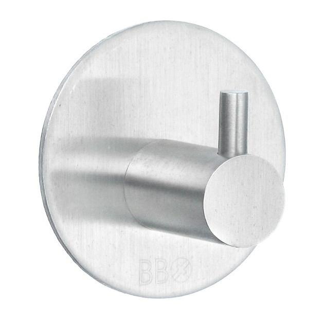 Beslagsboden Design Enkelkrog diam 48mm Selvklæbende Mat Krom