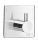 Beslagsboden Design Enkelkrog 45X45mm Selvklæbende Blank Krom