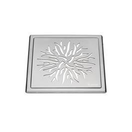 Smedbo Outline Gulvrist Rustfri, Børstet 200x200mm