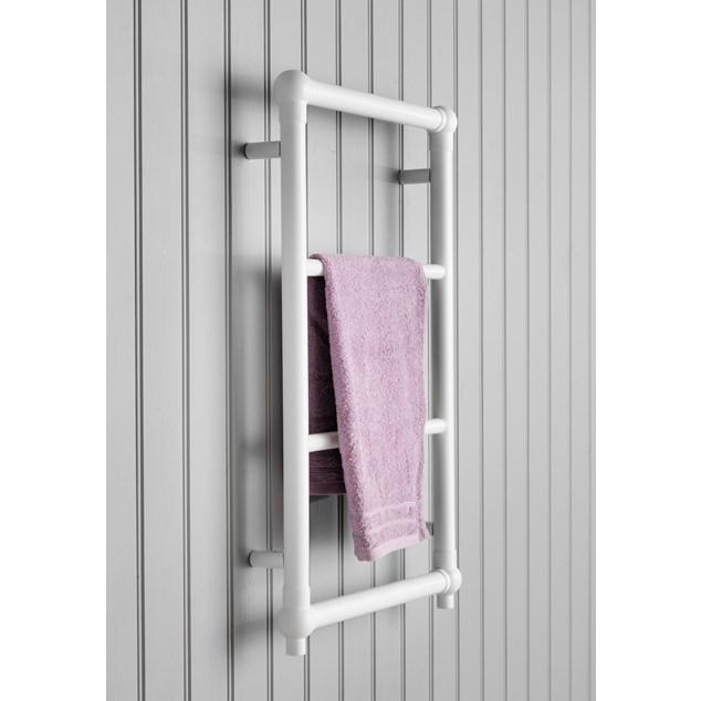 Hafa Hampton Håndklædetørrer Hvid Højglans