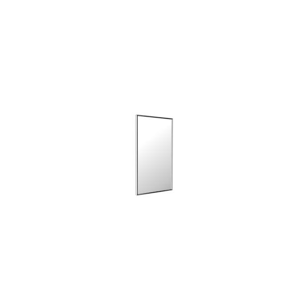 Vedum Spejl Flow med blank aluminiumram 400