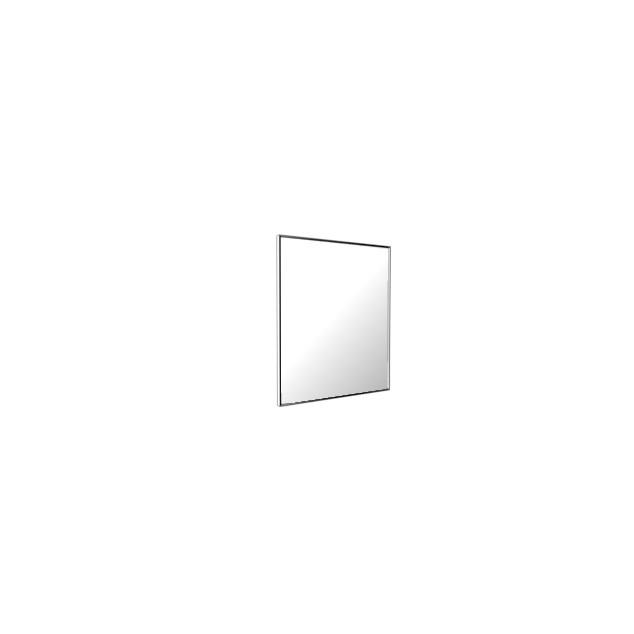Vedum Spejl Flow med blank aluminiumram 600